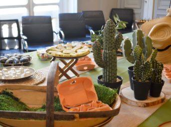 Un buffet déjeunatoire au cœur de la savane